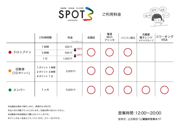 SPOT3料金表